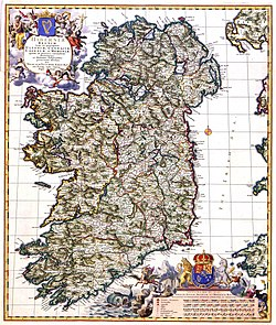 Atlas Van der Hagen-KW1049B11 048-HIBERNIAE REGNUM tam in praecipuas ULTONIAE, CONNACIAE, LAGENIAE, et MOMONIAE, quam in minores earundem Provincias, et Ditiones subjacentes peraccuraté divisum.jpeg