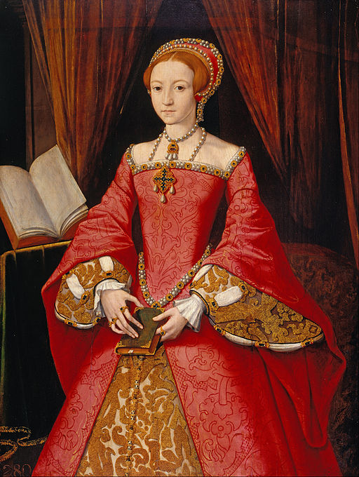 Attributed to William Scrots - Elizabeth I when a Princess (1533-1603) - Google Art Project