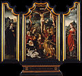 Attributed to the Master of the Von Groote Adoration - Triptych with Calvary, Saint Anthony the Abbot and Saint Catherine - Google Art Project.jpg