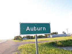 Sign for Auburn