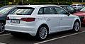 Audi A3 Sportback 1.4 TFSI Ambition (8V) – Heckansicht, 11. August 2013, Wuppertal.jpg