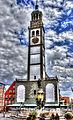 Augsburg Perlachturm, davor der Augustusbrunnen (8545146330).jpg