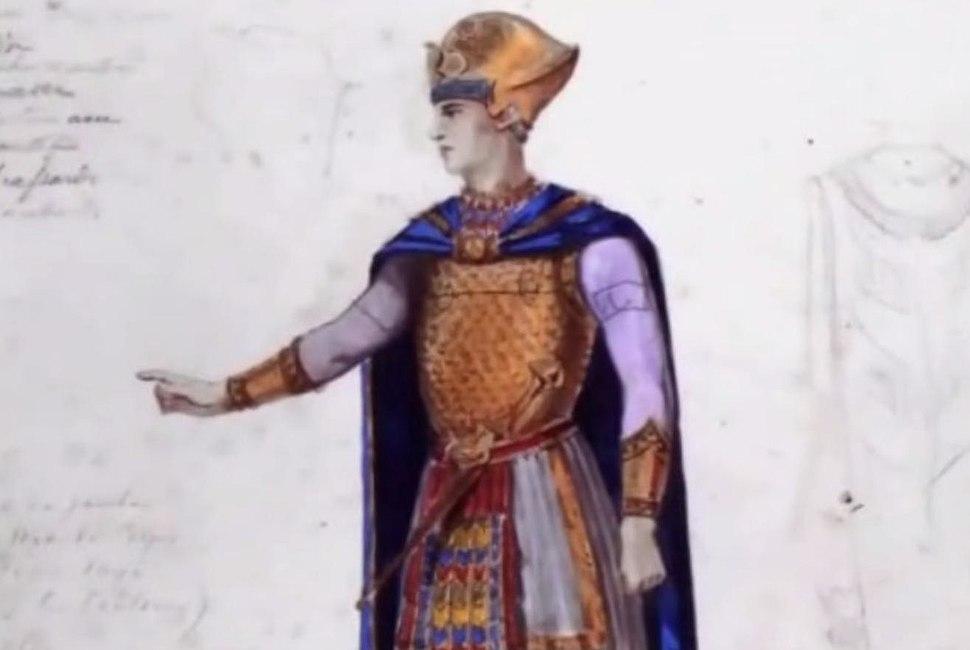 Auguste mariette - croquis pour la première d'Aïda