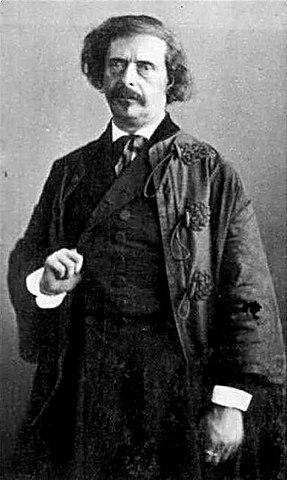 Барбе д'Оревильи. Фотопортрет работы Надара, 1860—1865