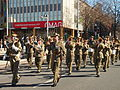 Australian Army band at the No 28 Squadron RAAF freedom of the city parade August 2013.jpg