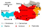 Římské provincie a města v oblasti dnešního Rakouska
