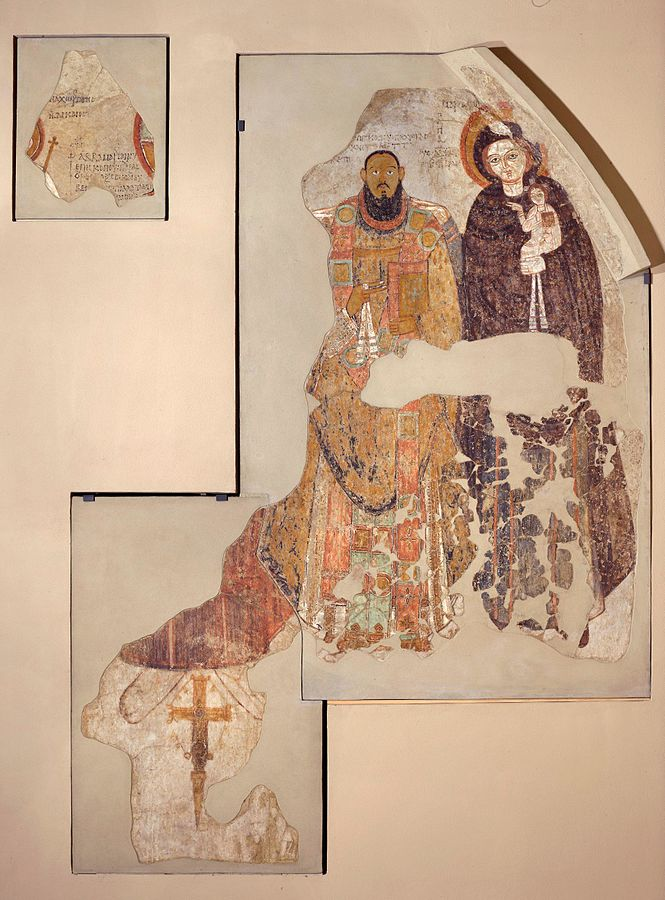 Bishop Marianus protected by the Christ and the Virgin