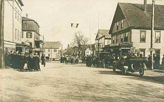 Raymond, New Hampshire - Main Street c. 1918