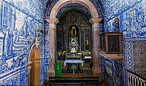 Peniche, Portugal - Image: Azulejos na Igreja de Nossa Senhora dos Remédios, Peniche (36034240674)