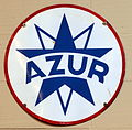 Azur enamel advert sign at the den hartog ford museum pic-081.JPG