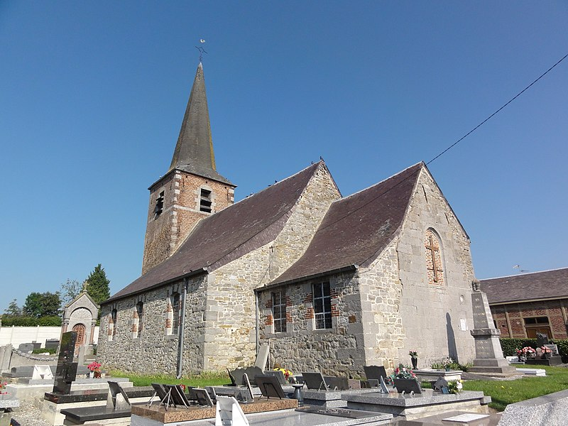 Bérelles (Nord, Fr) église