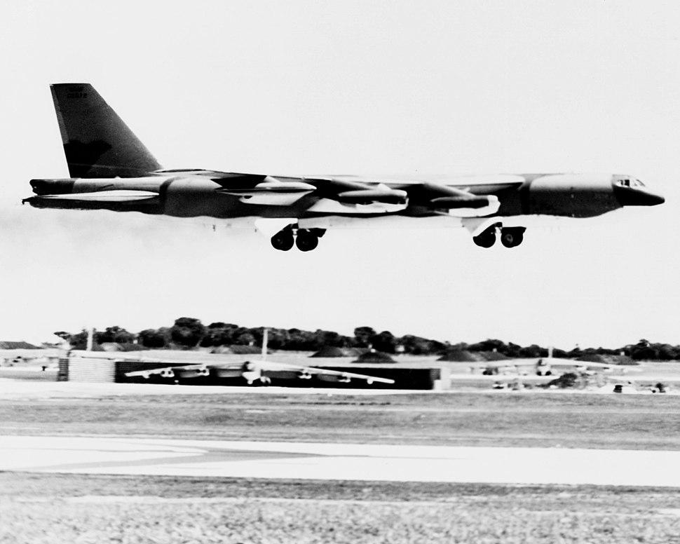 B-52G landing at Andersen AFB during Linebacker II 1972.JPEG