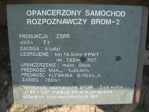 BRDM-2 armored scout car at the Muzeum Polskiej Techniki Wojskowej in Warsaw (2).JPG
