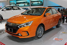 BYD Qin car in orange color