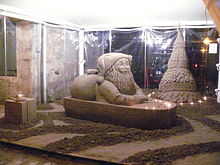 Albero natalizio e babbo natale in barca a Grado (GO) 2008