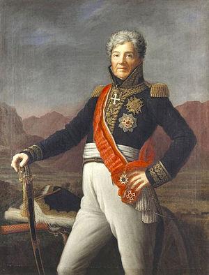 Niklaus Franz von Bachmann - Portrait of Niklaus Franz von Bachmann in French uniform, 1817