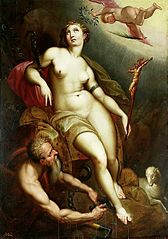 Allegory of Christian patience with Chronos releasing her from the shackles