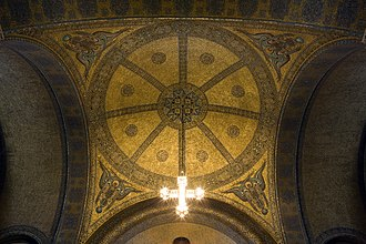 Church of the Redeemer, Bad Homburg - Gold mosaics covering the domed ceiling