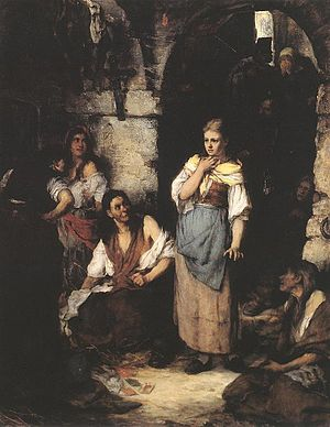 Ottó Baditz - Women in the Prison (1899), his most often reproduced painting.
