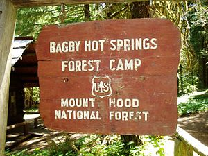 Bagby Hot Springs - Image: Bagby Hot Springs Sign