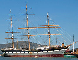 De Balclutha in het San Francisco Maritime National Historical Park.