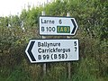 Ballyrickard and Waterfall Road Junction Sign - geograph.org.uk - 568448.jpg