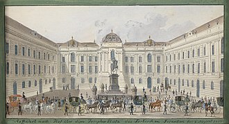 Austrian National Library - View of the imperial library at Josephsplatz (1835)