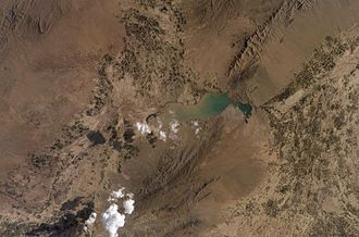 Sardeh Band Dam - The Sardeh Band Dam and its reservoir as seen from space
