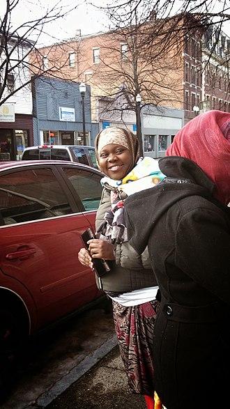History of Somali Bantus in Maine - A Bantu woman in Lewiston.