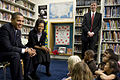 Barack & Michelle Obama at Washington DC public charter school 2-3-09 2.jpg