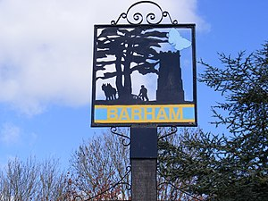 Barham, Suffolk - Barham Village Sign – geograph.org.uk – 1242785
