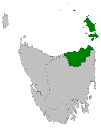Tasmanian House of Assembly electoral divisions - Image: Bass electorate 2009