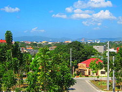 View of Poblacion, Batangas City, from Gulod Labac
