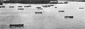 Battenberg Cup - The 1939 Battenberg Cup whaleboat race at Pearl Harbor.