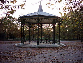 """Going Out - The bandstand in Battersea Park where """"Going Out"""" and """"Late In The Day"""" were filmed."""