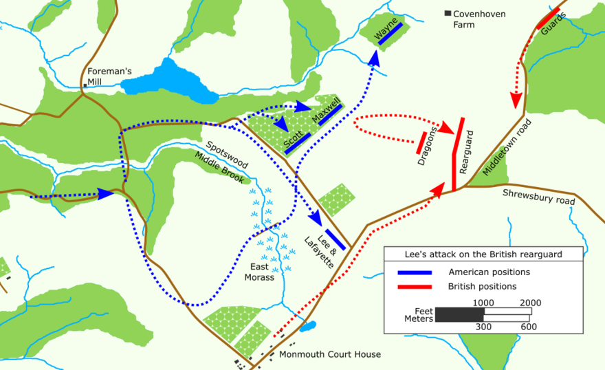 Lee's attack on the British rearguard
