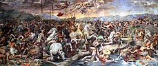 Battle of the Milvian Bridge by Giulio Romano, 1520-24.jpg