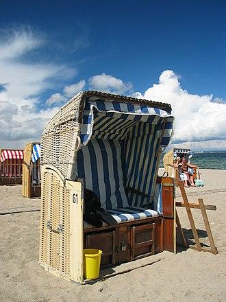 Strandkorb - Strandkorb typical for the Baltic Sea beaches
