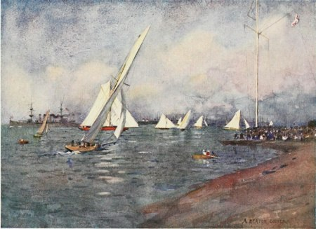 Beautiful Britain - The Isle of Wight - by G.E. Mitton - 3 YACHTING AT COWES