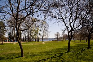 Beer Sheva Park (Seattle) - Beer Sheva Park, looking southeast over Lake Washington