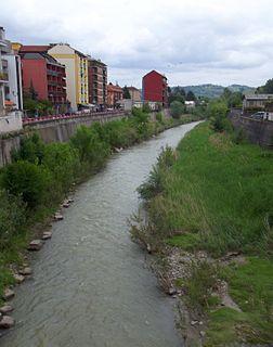Belbo river in Italy