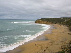Famous Beach at Surf Coast of Victoria