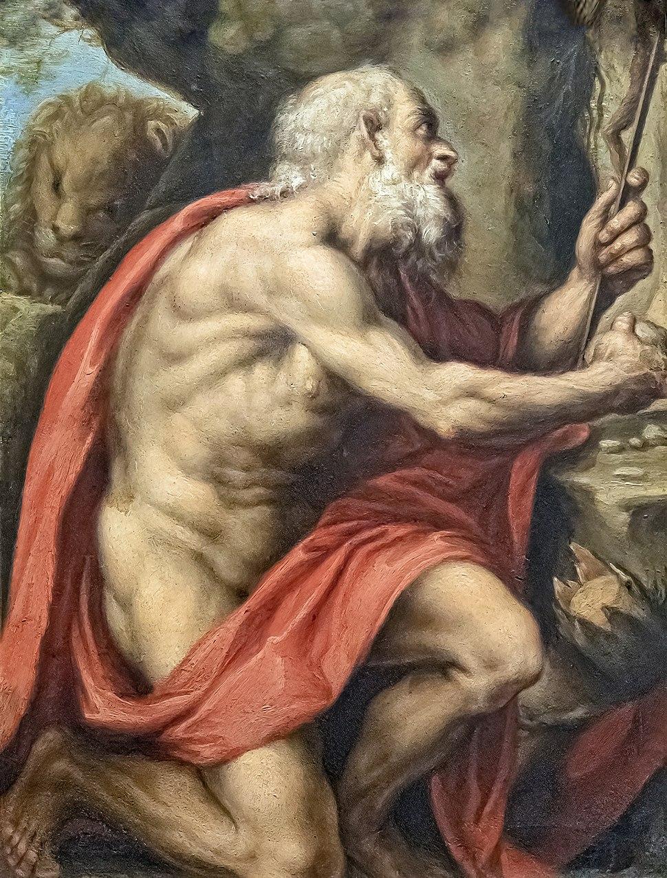 Bemberg Fondation Toulouse - Saint Jérôme - Bruzzi Ca 1580 - peinture sur cuivre Inv.1007 45x40