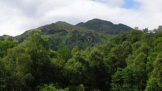 Trossachs - Ben Venue and Achray Forest in the southern park of the Great Trossachs Forest.