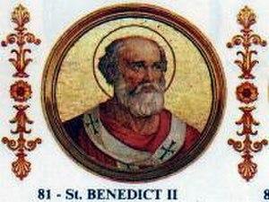 Pope Benedict II - Image: Benedict II