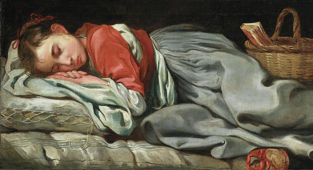 Bernhard Keil - Young Girl sleeping