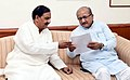 Bhupendrasinh Chudasama meeting the Minister of State for Culture (IC) and Environment, Forest & Climate Change, Dr. Mahesh Sharma, in New Delhi (1).JPG