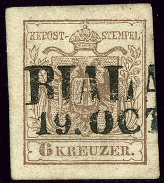 Bielsko-Biała - Austrian KK stamp first 1850 issue, cancelled BIALA