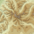 Big Horn topographic blank map.png