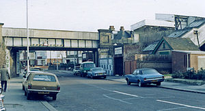Bingham Road railway station - Station entrance in 1983.